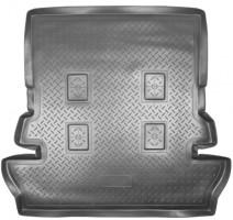 Коврик в багажник для Toyota Land Cruiser 200 '07- (7 мест), полиуретановый (NorPlast) черный