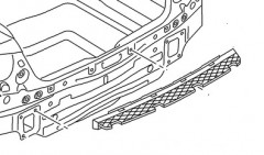 Направляющая заднего бампера для Volkswagen Passat B7 '10-14 (FPS)