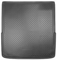 Коврик в багажник для Volkswagen Passat B6 '05-10 универсал, полиуретановый (NorPlast) черный