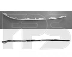 Молдинг решетки в бампере для Volkswagen Passat B7 '10-14, нижний левый, хром. (FPS)