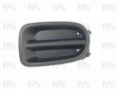 Решетка бампера для Nissan Almera '00-06, заглушка ПТФ, правая (FPS)