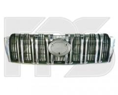 Решетка радиатора для Toyota LC Prado 150 '10-13, хром. черн. (FPS)