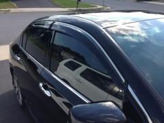 Дефлекторы окон для Honda Accord '13-, с хром. молдингом (AVTM)