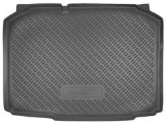 Коврик в багажник для Skoda Fabia II '07-14 хетчбэк, полиуретановый (NorPlast) черный