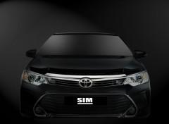 Дефлектор капота для Toyota Camry V55 '14-17 (Sim)