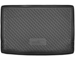 Коврик в багажник для Skoda Yeti '09-17, полиуретановый (NorPlast) черный