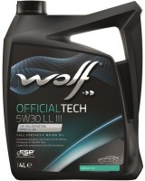Моторное масло Wolf Officialtech 5W-30 LL III (4л)