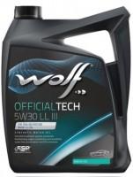 Моторное масло Wolf Officialtech 5W-30 LL III (5л)