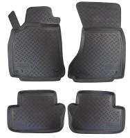 Коврики в салон для Audi A4 '08- полиуретановые, черные (Nor-Plast)