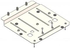 Кольчуга Защита двигателя для Jaguar F-Pace '16-, V-2,0D, АКПП (Кольчуга) Zipoflex
