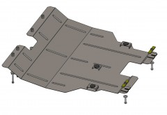 Кольчуга Защита двигателя Chery Tiggo 5 с 2014, 1.6i; МКПП (Кольчуга) Zipoflex