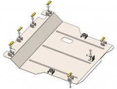 Кольчуга Защита двигателя Daihatsu Materia 2007 - 2012, 1.5i; АКПП, МКПП (Кольчуга)