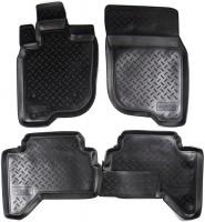 Коврики в салон для Mitsubishi L200 / Triton '05-15 полиуретановые, черные (Nor-Plast)