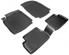 Коврики в салон для Nissan Micra '03-10 полиуретановые, черные (Nor-Plast)