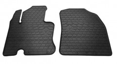 Коврики в салон передние для Honda Pilot '08-15 резиновые, черные (Stingray)