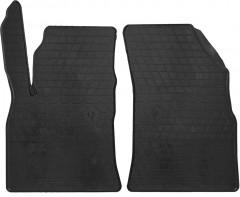 Коврики в салон передние для Opel Astra K '15- резиновые, черные (Stingray)