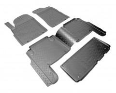 Коврики в салон для Nissan Patrol '10- полиуретановые, черные (Nor-Plast)