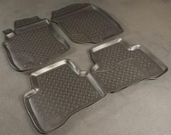 Коврики в салон для Nissan X-Trail '01-07 полиуретановые, черные (Nor-Plast)