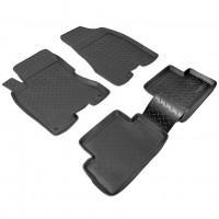 Коврики в салон для Nissan X-Trail '08-15 полиуретановые, черные (Nor-Plast)