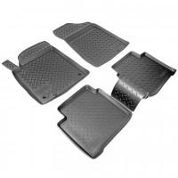 Коврики в салон для Nissan Teana '08- полиуретановые, черные (Nor-Plast)