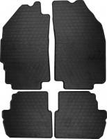 Коврики в салон для Chevrolet Spark '11- резиновые, черные (Stingray)