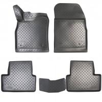 Коврики в салон для Opel Astra J '09- полиуретановые, черные (Nor-Plast)