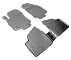 Коврики в салон для Opel Astra H '07-15, седан, полиуретановые, черные (Nor-Plast)
