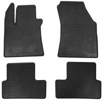 Коврики в салон для Renault Megane '16- резиновые, черные (Stingray)