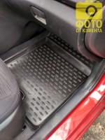 Фото 2 - Коврики в салон 3D для Hyundai Accent (Solaris) '11-17 полиуретановые (Novline)