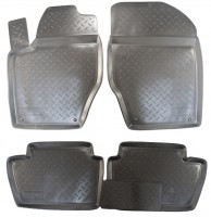 Коврики в салон для Peugeot 307 '01-07 полиуретановые, черные (Nor-Plast)