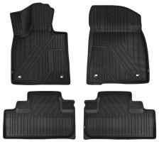 Коврики в салон 3D для Lexus RX с 2016 полиуретановые (Kvest)