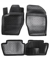 Коврики в салон для Peugeot 308 '08-13 полиуретановые, черные (Nor-Plast)