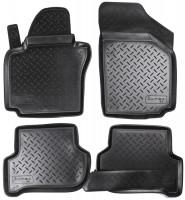 Коврики в салон для Seat Altea / Altea XL '04-15 полиуретановые, черные (Nor-Plast)