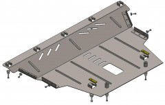 Защита двигателя и КПП для Jeep Renegade '16-, V-1,4i turbo; 1,6i, АКПП, МКПП (Кольчуга) Zipoflex