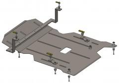 Кольчуга Защита двигателя BMW 3 E90 2005 - 2011, 2.0і; АКПП (Кольчуга) Zipoflex