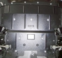 Фото 2 - Защита двигателя и радиатора для BMW 5 F10/11 '10-16, V-3,0D; 2,0i, АКПП (Кольчуга)