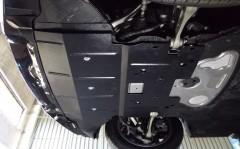 Фото 3 - Защита двигателя и радиатора для BMW 5 F10/11 '10-16, V-3,0D; 2,0i, АКПП (Кольчуга)