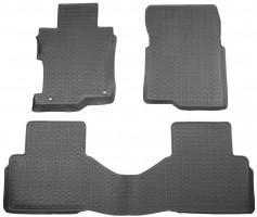 Коврики в салон для Honda Accord 8 '08-12 USA, седан/купе резиновые, черные (Star Diamond)