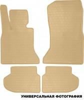 Коврики в салон для BMW 3 E90 2005-2011 резиновые, бежевые (Stingray)