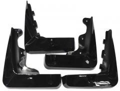 Брызговики для Lexus ES с 2012 окрашные черные, полный комплект (AVTM)