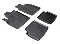 Коврики в салон для Fiat 500 '08- полиуретановые, черные (Nor-Plast)