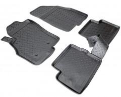 Коврики в салон для Fiat Grande Punto / Punto '05- полиуретановые, черные (Nor-Plast)