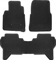 Коврики в салон для Mitsubishi Pajero Wagon 4 '07- резиновые, черные (Star Diamond)