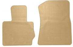Коврики в салон передние для BMW X4 с 2014 резиновые, бежевые (Stingray)