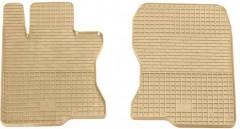 Коврики в салон передние для Honda Accord 8 2008-2013 EUR резиновые, бежевые (Stingray)