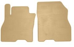 Коврики в салон передние для Nissan Leaf '10-17 резиновые, бежевые (Stingray)