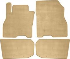 Коврики в салон для Nissan Leaf '10-17 резиновые, бежевые (Stingray)