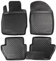 Коврики в салон для Ford Fiesta '09-17 полиуретановые, черные (Nor-Plast)