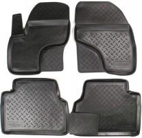Коврики в салон для Ford Kuga '08-13 полиуретановые, черные (Nor-Plast)