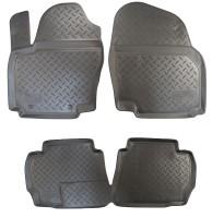Коврики в салон для Ford Mondeo '07-14 полиуретановые, черные (Nor-Plast)